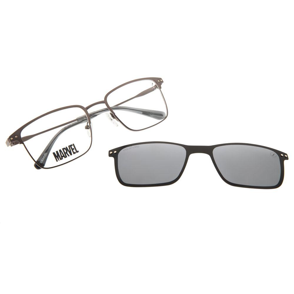 Armação Para Óculos de Grau Masculino Multi Marvel Homem de Ferro Ônix LV.MU.0486-0122