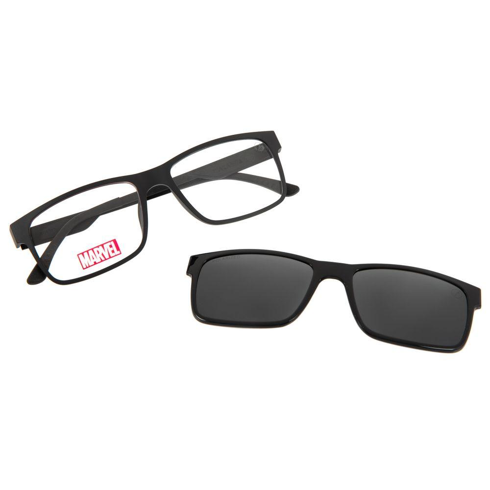 Armação Para Óculos de Grau Masculino Multi Marvel Pantera Negra Preto LV.MU.0487-0101