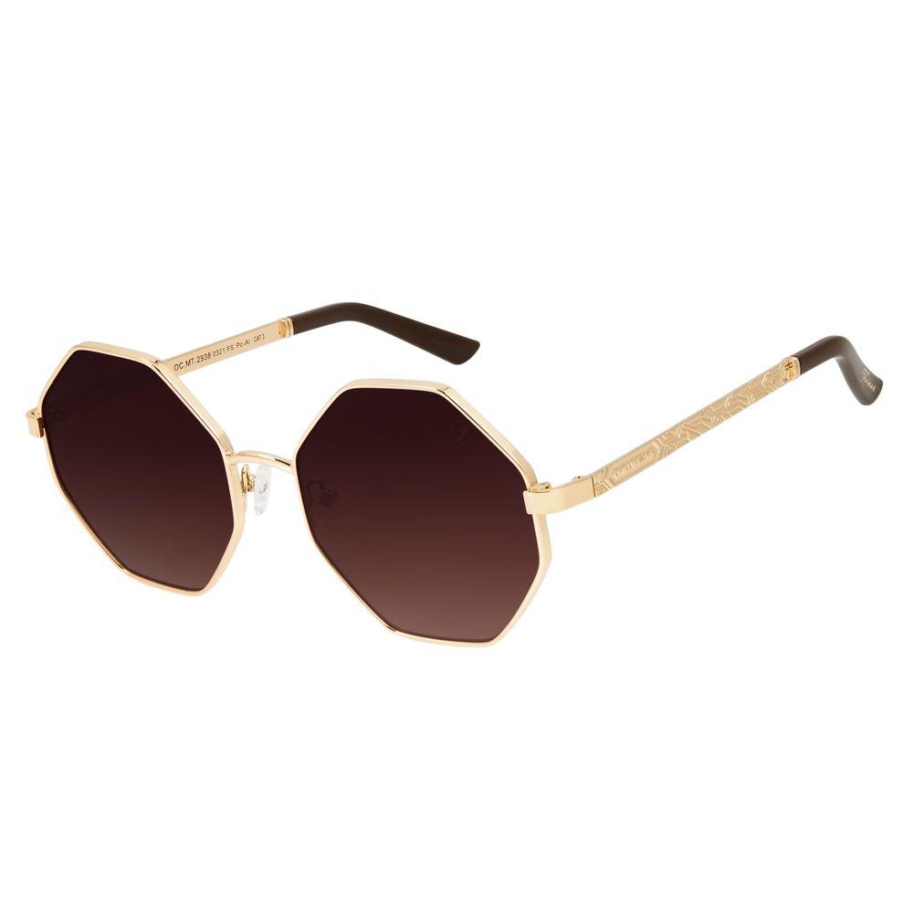Óculos de Sol Feminino Marvel Dourado OC.MT.2938-0321
