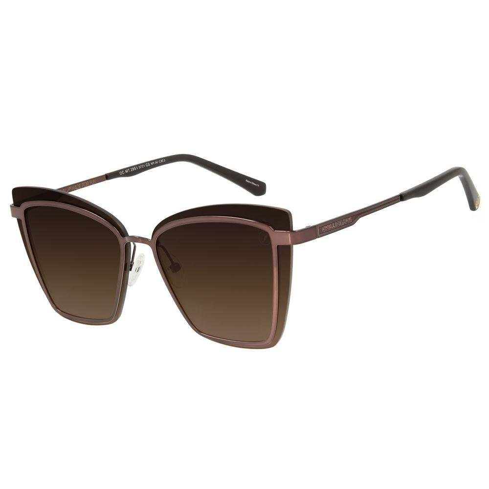 Óculos de Sol Feminino Marvel Homem de Ferro Quadrado Dourado OC.MT.2951-5721