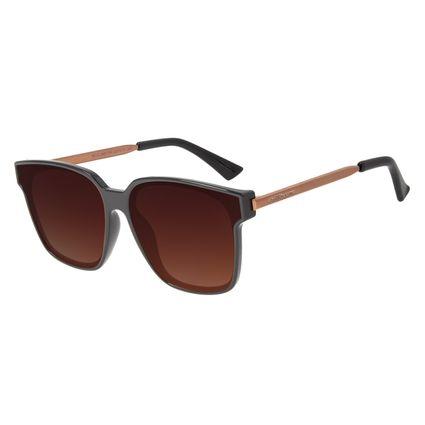 Óculos de Sol Chilli Beans Feminino Quadrado Marrom OC.CL.2405-5702