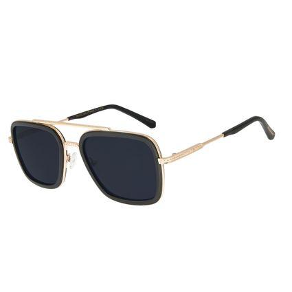 Óculos Sol Masculino Marvel Pantera Negra Executivo Dourado OC.MT.2950-0121