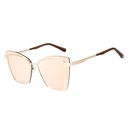Óculos de Sol Feminino Marvel Homem de Ferro Quadrado Rosé OC.MT.2951-5795