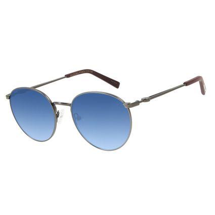 Óculos de Sol Unissex Marvel Capitão América Redondo Degradê Azul OC.MT.2969-8322