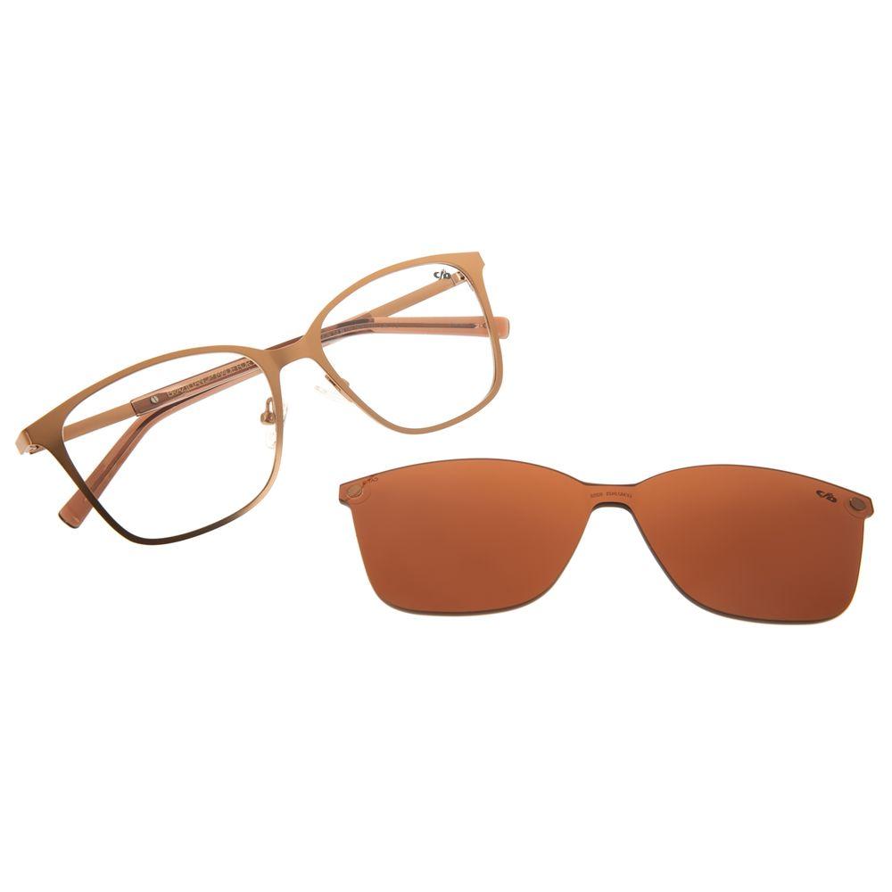 Armação Para Óculos de Grau Chilli Beans Feminino Multi Quadrado Marrom LV.MU.0425-0202