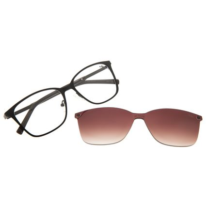 Armação Para Óculos de Grau Chilli Beans Feminino Multi Quadrado Preto LV.MU.0425-2001