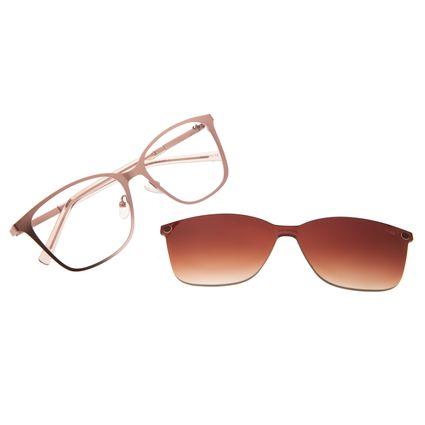 Armação Para Óculos de Grau Chilli Beans Feminino Multi Quadrado Rosê LV.MU.0425-5795