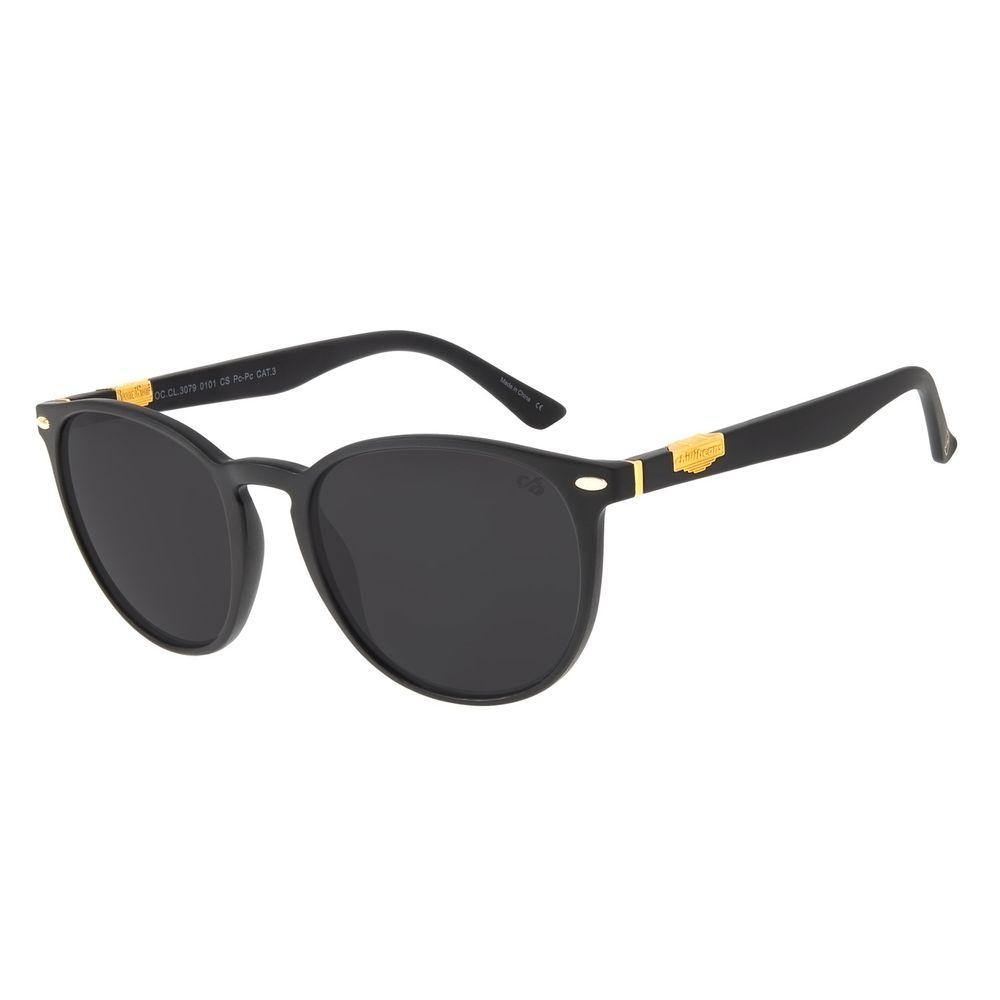 Óculos de Sol Unissex Redondo Barber Shop Preto OC.CL.3079-0101