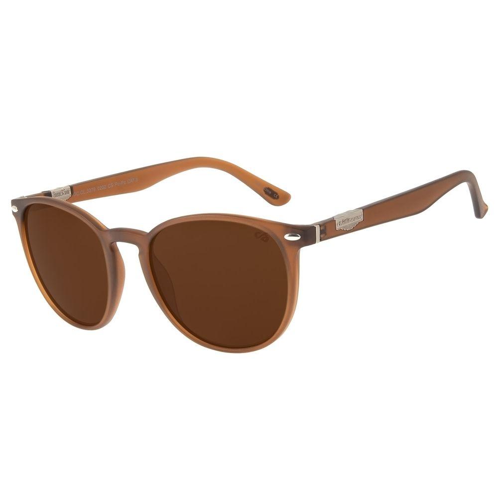 Óculos de Sol Unissex Redondo Barber Shop Preto OC.CL.3079-0202