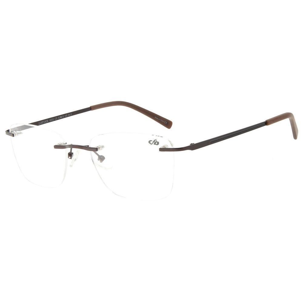 Armação Para Óculos de Grau Masculino Chilli Beans Classic 3 Peças Marrom LV.MT.0436-0202