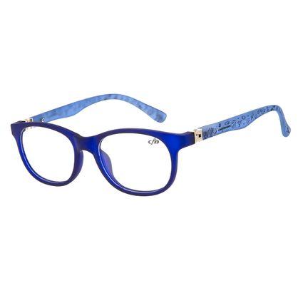 Armação Para Óculos de Grau Infantil Chilli Beans Space Flexível Azul LV.IJ.0118-0859
