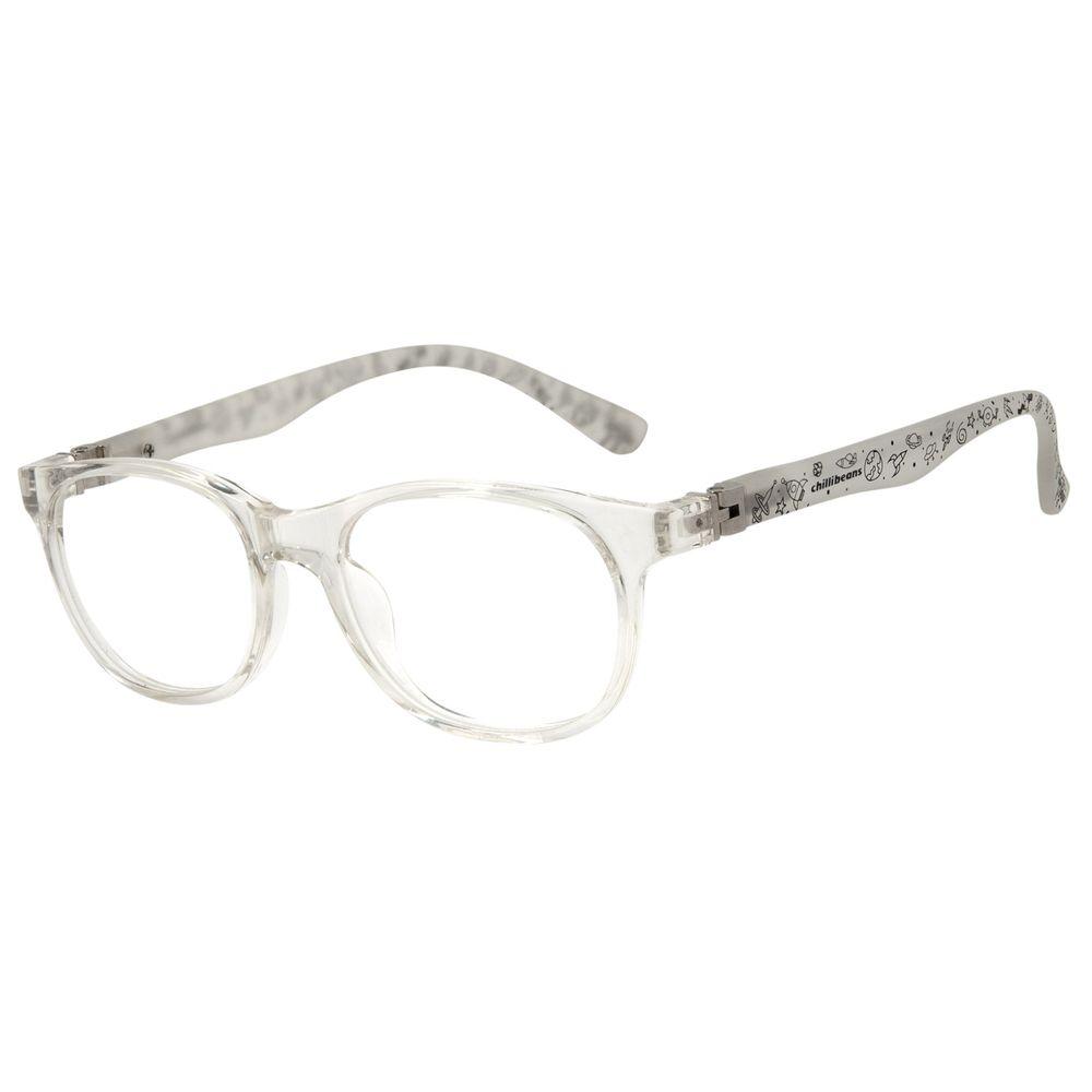 Armação Para Óculos de Grau Infantil Chilli Beans Space Flexível Transparente LV.IJ.0118-3636