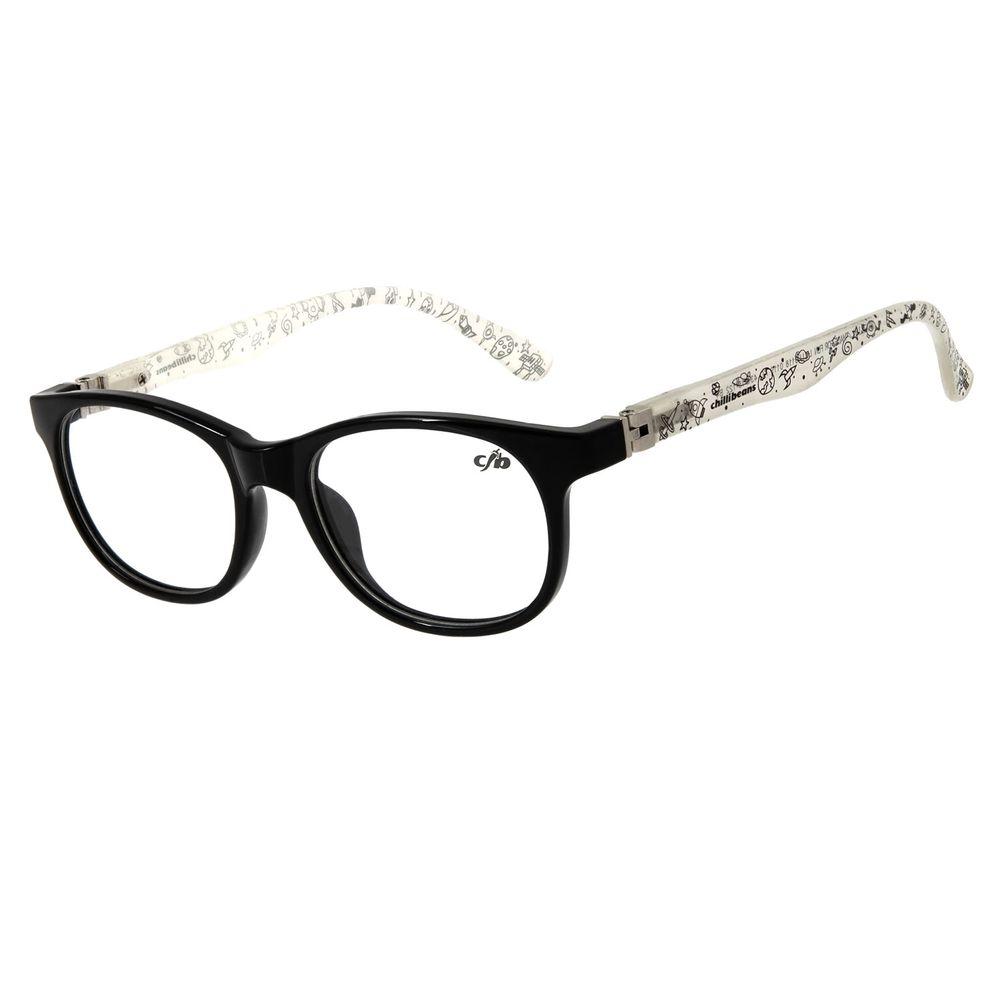 Armação Para Óculos de Grau Infantil Chilli Beans Space Flexível Branco LV.IJ.0118-0119