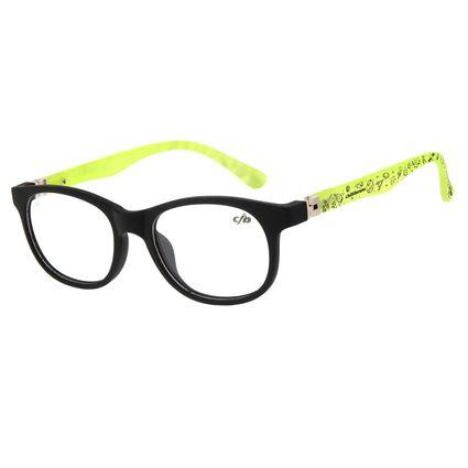 Armação Para Óculos de Grau Infantil Chilli Beans Space Flexível Verde LV.IJ.0118-0115