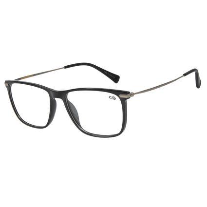 Armação Para Óculos de Grau Masculino Chilli Beans Quadrado TR90 Grafite LV.IJ.0125-0124