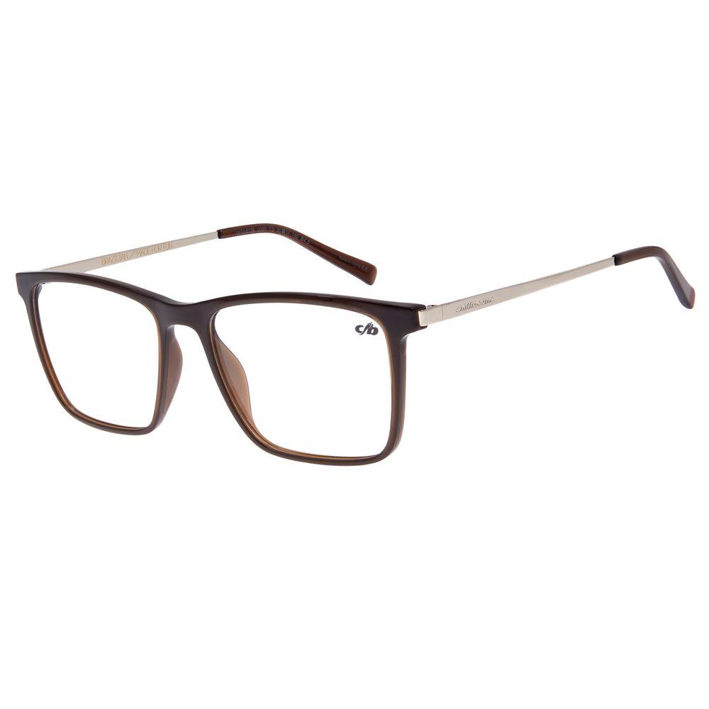 Armação para Óculos de Grau Masculino Chilli Beans Quadrado Prata LV.IJ.0126-0207