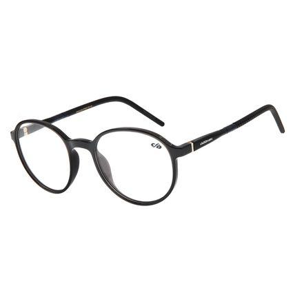 Armação Para Óculos Grau Masculino Chilli Beans Redondo TR90 Preto LV.IJ.0127-0101