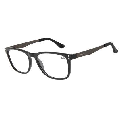 Armação Para Óculos de Grau Masculino Chilli Beans Quadrada Casual Grafite LV.IJ.0131-0124