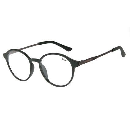Armação Para Óculos de Grau Unissex Chilli Beans Casual Redondo Verde Escuro LV.IJ.0135-1524