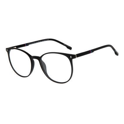 Armação Para Óculos de Grau Masculino Chilli Beans Casual Redondo Preto LV.IJ.0140-0101