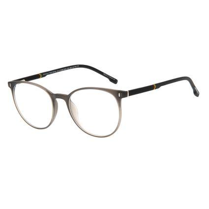Armação Para Óculos de Grau Masculino Chilli Beans Casual Redondo Cinza LV.IJ.0140-0404