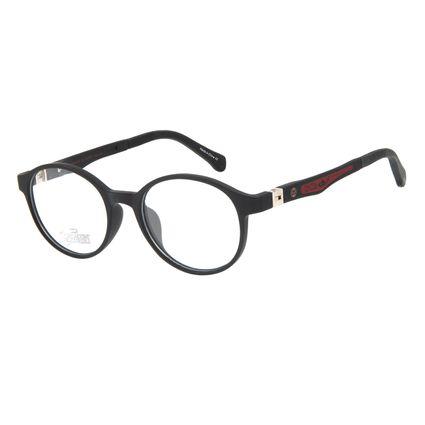 Armação Para Óculos de Grau Infantil Disney Vingadores Homem de Ferro Preto LV.IJ.0165-0101