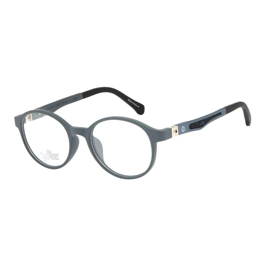 Armação Para Óculos de Grau Infantil Disney Vingadores Homem de Ferro Cinza LV.IJ.0165-0404