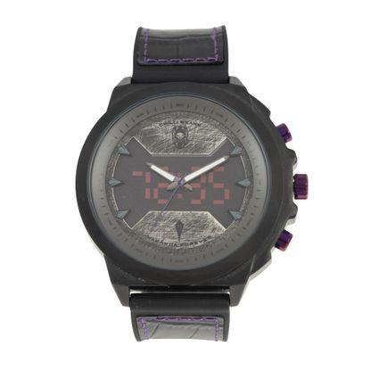 Relógio Double Dial Masculino Marvel Pantera Negra Preto RE.CR.0463-0101