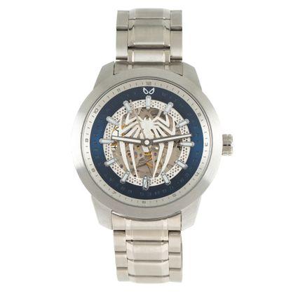 Relógio Automático Masculino Marvel Homem Aranha Prata RE.MT.1149-0807