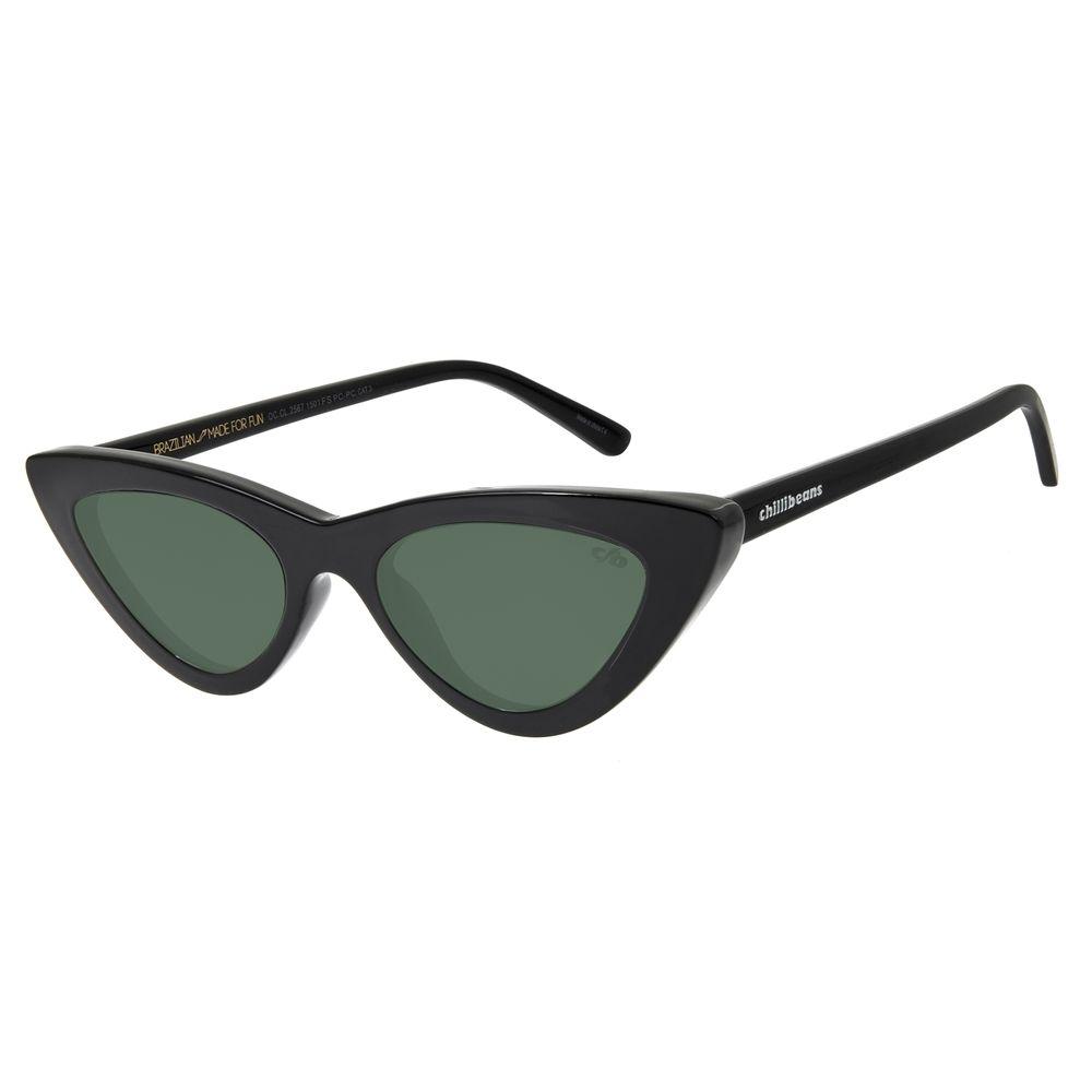 Óculos de Sol Feminino Chilli Beans Gatinho Fashion Verde OC.CL.2567-1501