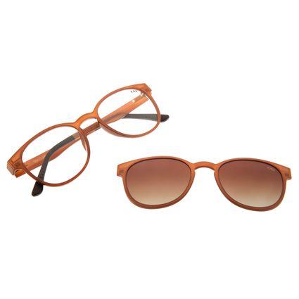 Armação Para Óculos Grau Feminino Chilli Beans Multi Marrom Claro Polarizado LV.MU.0020-2088