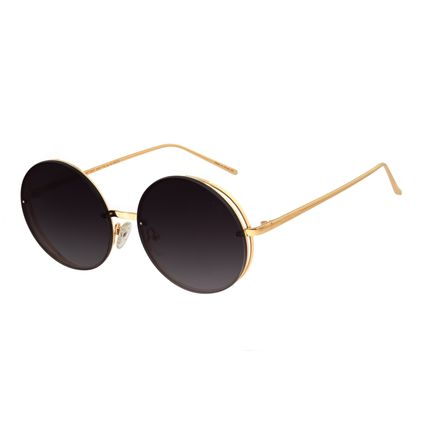 Óculos De Sol Feminino Chilli Beans Redondo Metal Dourado OC.MT.2647-2021