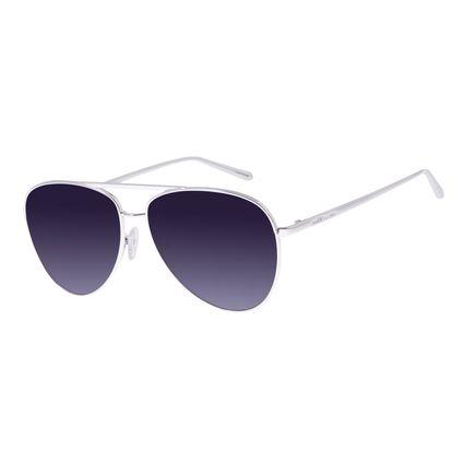 Óculos De Sol Feminino Chilli Beans Aviador Prata OC.MT.2683-2007