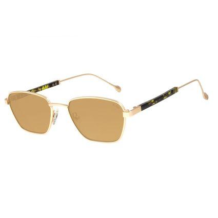 Óculos de Sol Feminino Água de Coco Narrow Dourado OC.MT.2806-0221