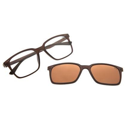Armação Para Óculos De Grau Masculino Chilli Beans Multi Marrom Fosco LV.MU.0489-0202