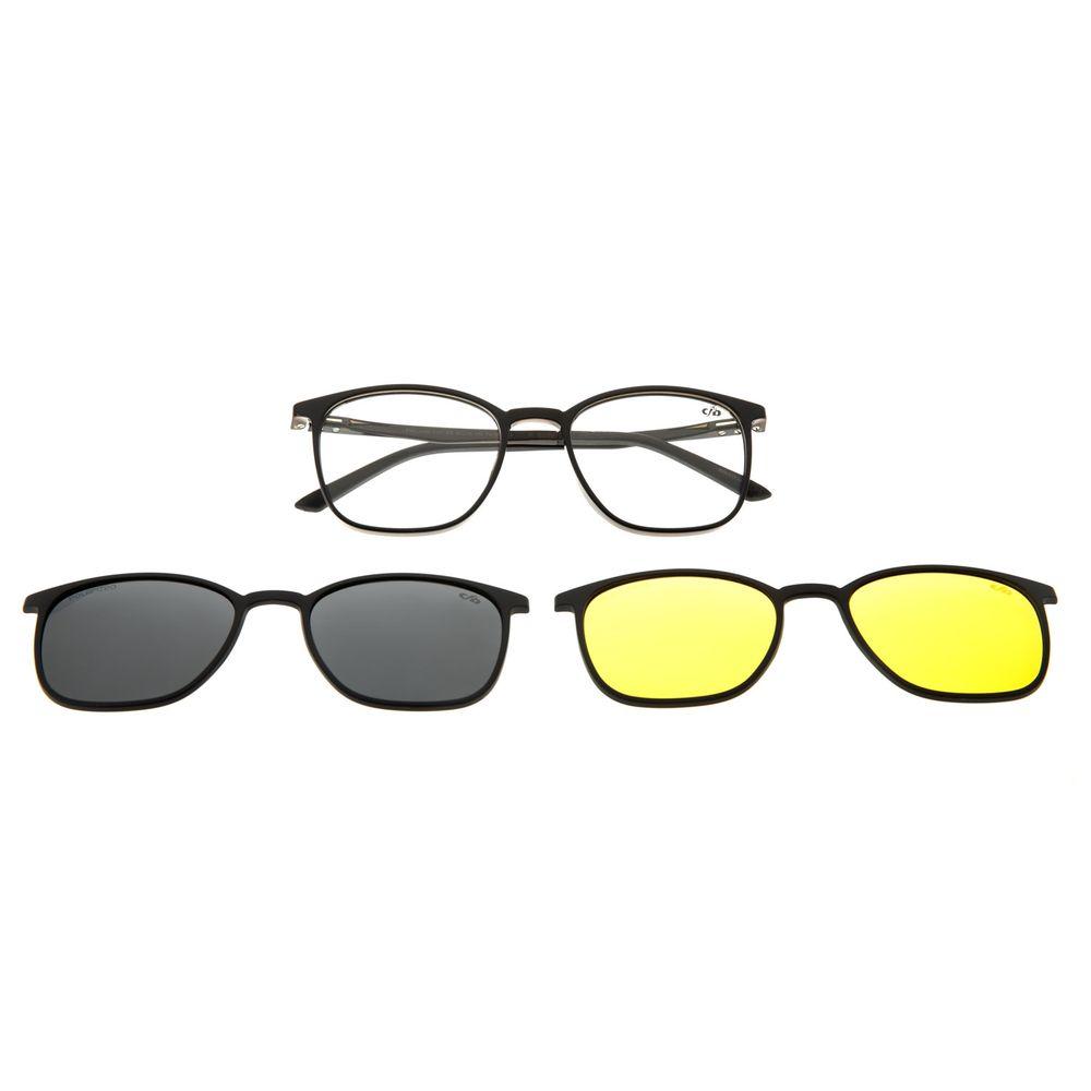 Armação Para Óculos De Grau Masculino Chilli Beans Night Vision Multi Preto LV.MU.0490-0101