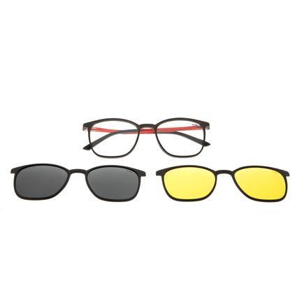 Armação Para Óculos De Grau Masculino Chilli Beans Night Vision Multi Vermelho LV.MU.0490-0116