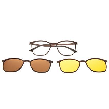 Armação Para Óculos De Grau Masculino Chilli Beans Night Vision Multi Marrom LV.MU.0490-0202