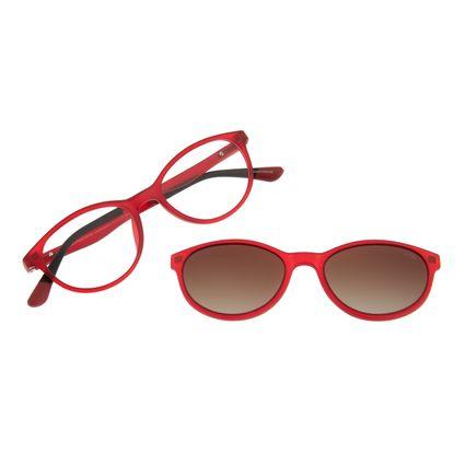 Armação para Óculos de Grau Infantil Multi Flexível Vermelho LV.MU.0335-2016