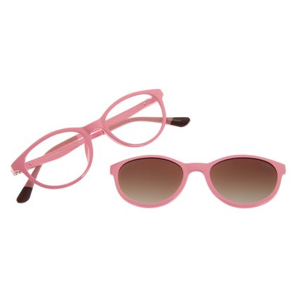 Armação para Óculos de Grau Infantil Multi Flexível Rosa LV.MU.0335-2023