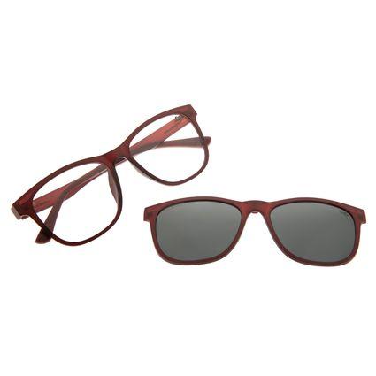 Armação Para Óculos Grau Masculino Chilli Beans Multi Vinho Polarizado LV.MU.0491-0117