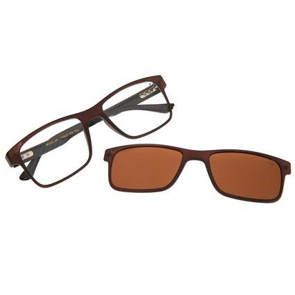 Armação Para Óculos de Grau Masculino Chilli Beans Multi Marrom LV.MU.0261-0202