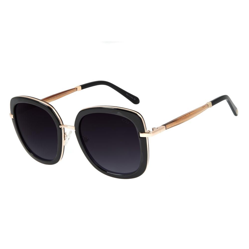Óculos de Sol Feminino Mãe Natureza Quadrado Marrom OC.CL.3036-2002