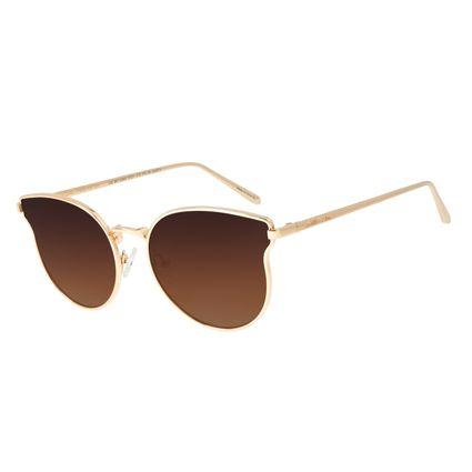 Óculos de Sol Feminino Chilli Beans Redondo Dourado OC.MT.2365-5721