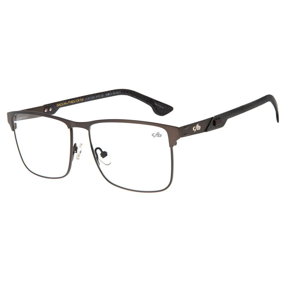 Armação Para Óculos De Grau Masculino Chilli Beans Classic Marrom Escuro LV.MT.0341-4747