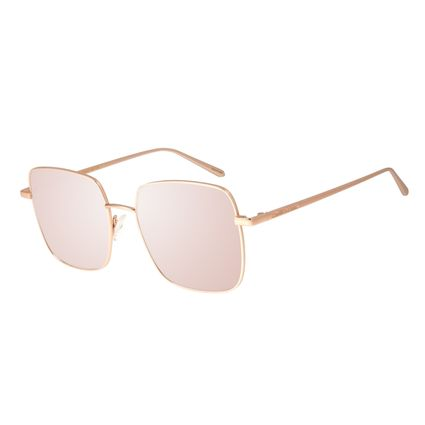Óculos de Sol Feminino Chilli Beans Banhado A Ouro Degradê Marrom OC.MT.2573-5795