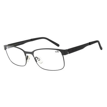 Armação Para Óculos de Grau Masculino Chilli Beans Classic Retangular Inox Preto LV.MT.0344-0101