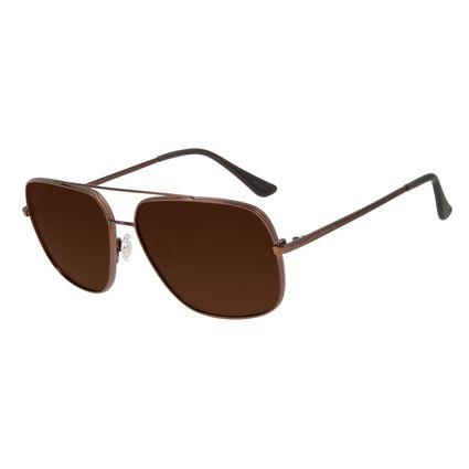 Óculos de Sol Unissex Chilli Beans Executivo Marrom OC.MT.2834-0202