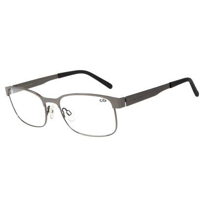 Armação Para Óculos de Grau Masculino Chilli Beans Classic Retangular Inox Grafite LV.MT.0344-2424