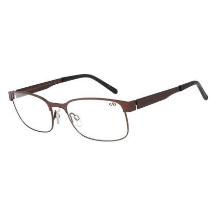 Armação Para Óculos de Grau Masculino Chilli Beans Classic Retangular Inox Marrom Escuro LV.MT.0344-4747